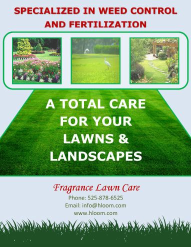 Weed control service business forms for karl pinterest for Garden maintenance flyers