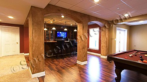 Charmant Basement Bar Photo Gallery | ... Architectural Design Of The Basement Game  Room And