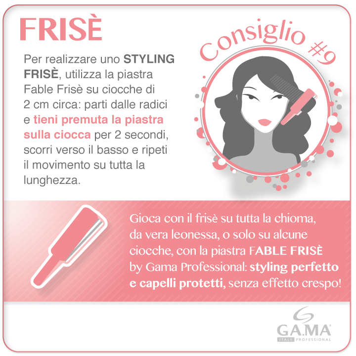 Cambio di look per un party speciale: che ne dite del frisè? Tra le novità #GamaProfessional 2014 c'è anche la #piastra Fable Frisè: #styling perfetto e #capelli protetti! /// New styling for a special party: what about frisè #hair? Fable frisè #hairstraightener is one of the new arrivals for 2014: perfect styling and protected hair! #Gama #Gamaitalia #gamaconsiglia #piastre #straightener #straighteners #hairstraighteners #haircare #beautytechnology #howto #tutorial #hairtips #tips…
