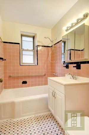 vintage pink tile bathroom ideas