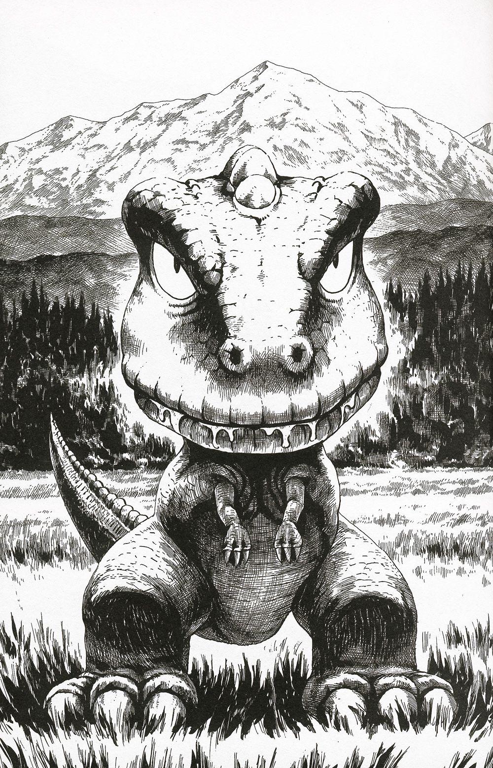 Gonimagen01jpg 10001557 Lineart Gon Mini Dinosaur Manga