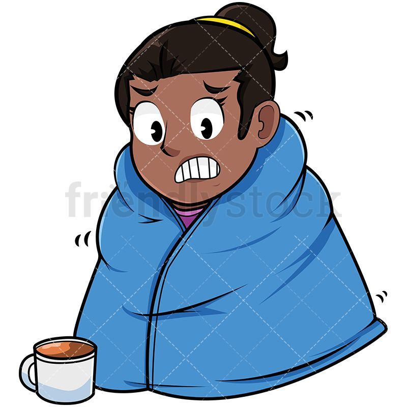 Cold Black Woman Wearing Warm Blanket Cold clipart, Warm