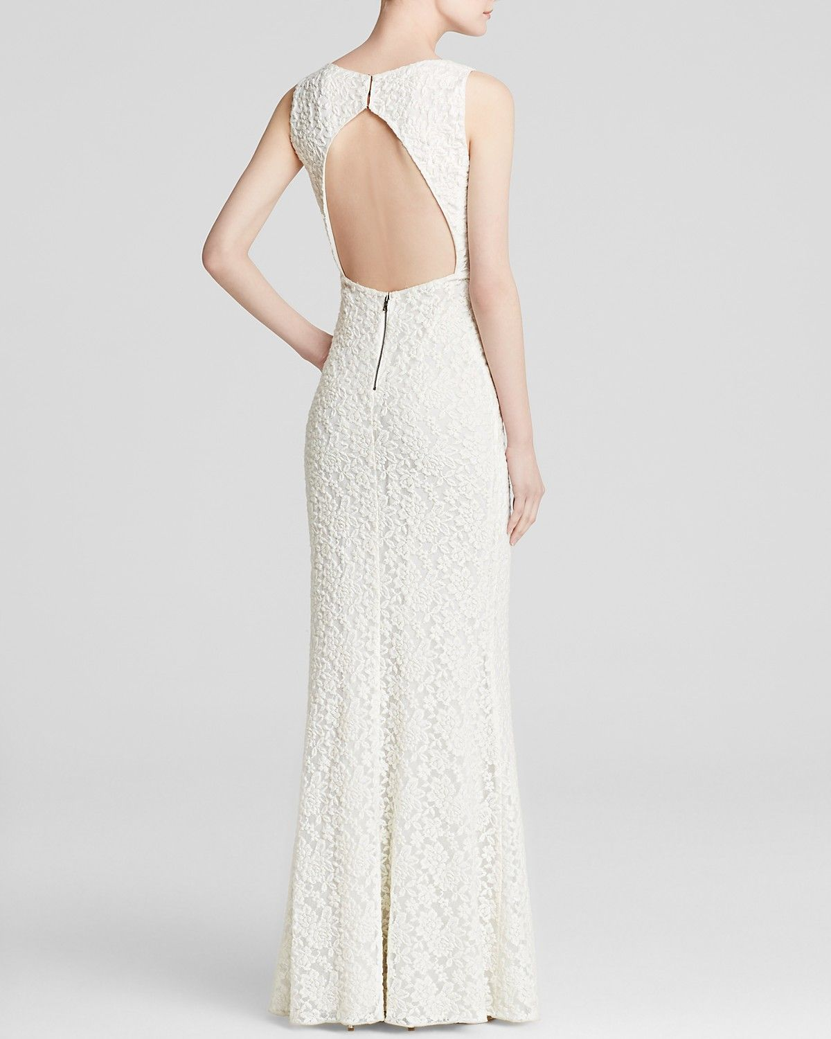 Alice Olivia Gown Sachi Lace Ivory Bloomingdales A