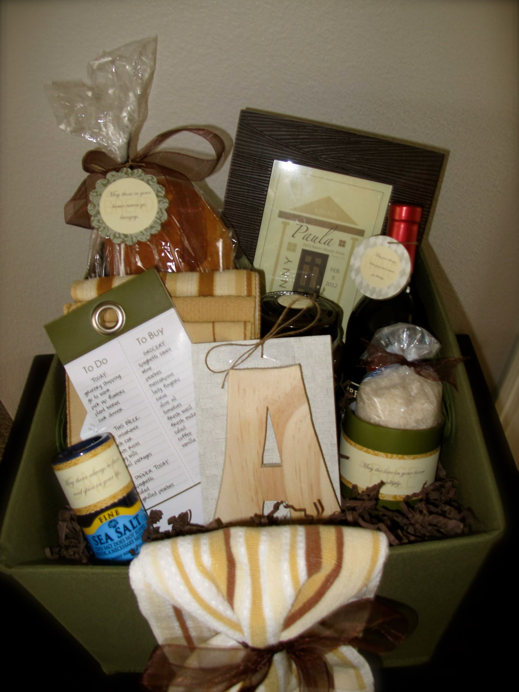 House warming basket easy diy ts simple creative handmade also best images ideas rh pinterest