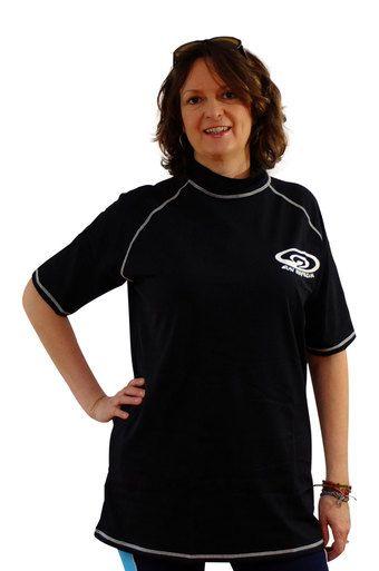 25db3dbe6b9c6 Black Plus Size Rash Guard Shirt for Women