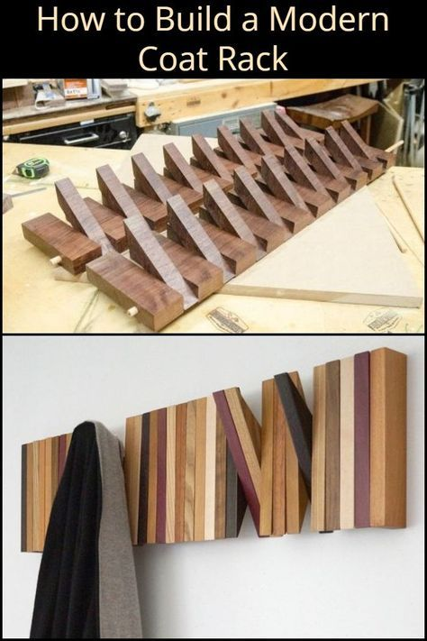 How to Build a Modern Coat Rack #woodprojects
