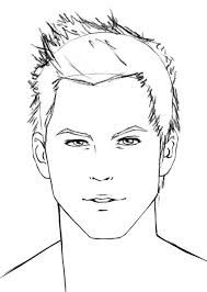 how to draw a real man face