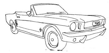 Convertible ford mustang car coloring page ford coloring for Convertible car coloring pages