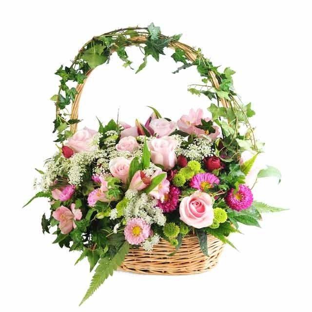 Flower Baskets Usa : Basket flower arrangements arrangement of roses