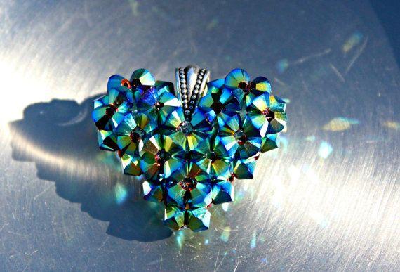 Dancing With the Stars Heart Swarovski Crystal by HandmadeJILLry