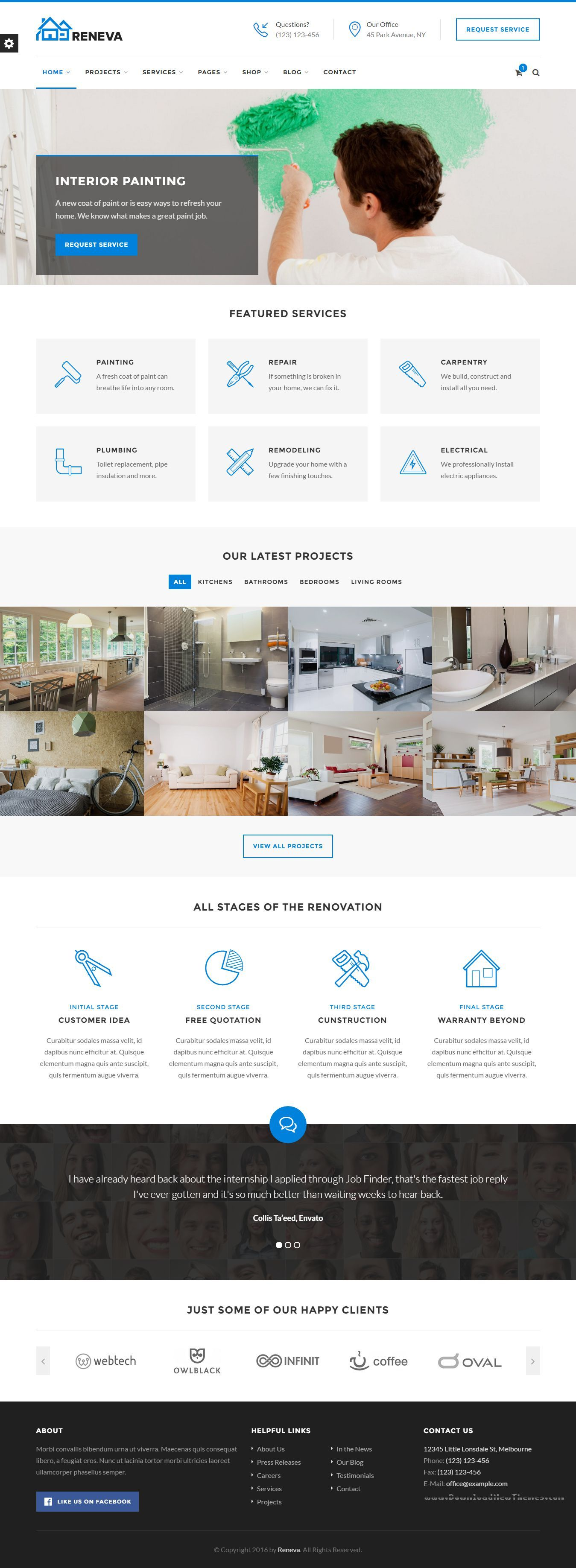 Reneva - Small Business HTML Template