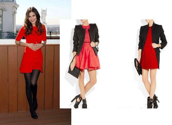 Красное платье и пиджак фото