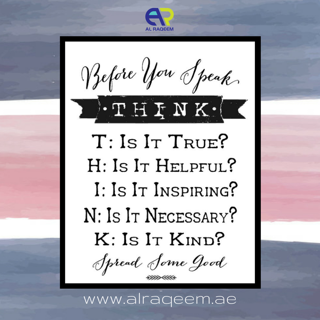 """QUOTE FOR THE DAY: """" BEFORE YOU SPEAK, THINK! """" #trademark"""