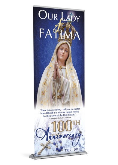 Our Lady Of Fatima 100th Anniversary A Lady Of Fatima Praying The Rosary Lady