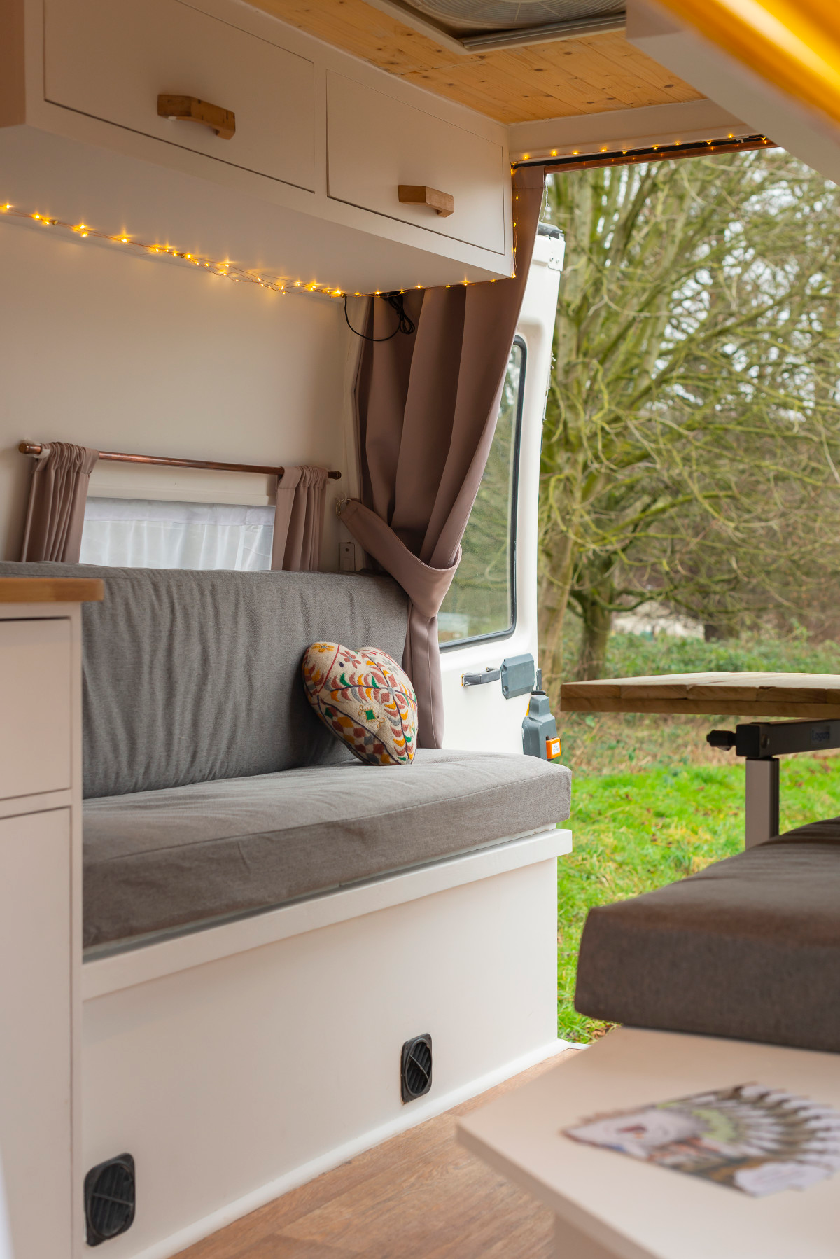 Gloriously Camper-van with cool, modern and funky urban interior stylings.