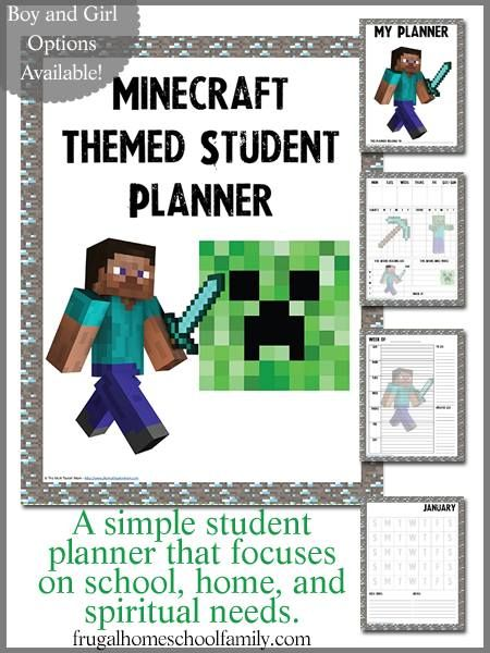 FREE Minecraft-themed Student Planners {Boy and Girl Versions} LAST CHANCE!  Ends