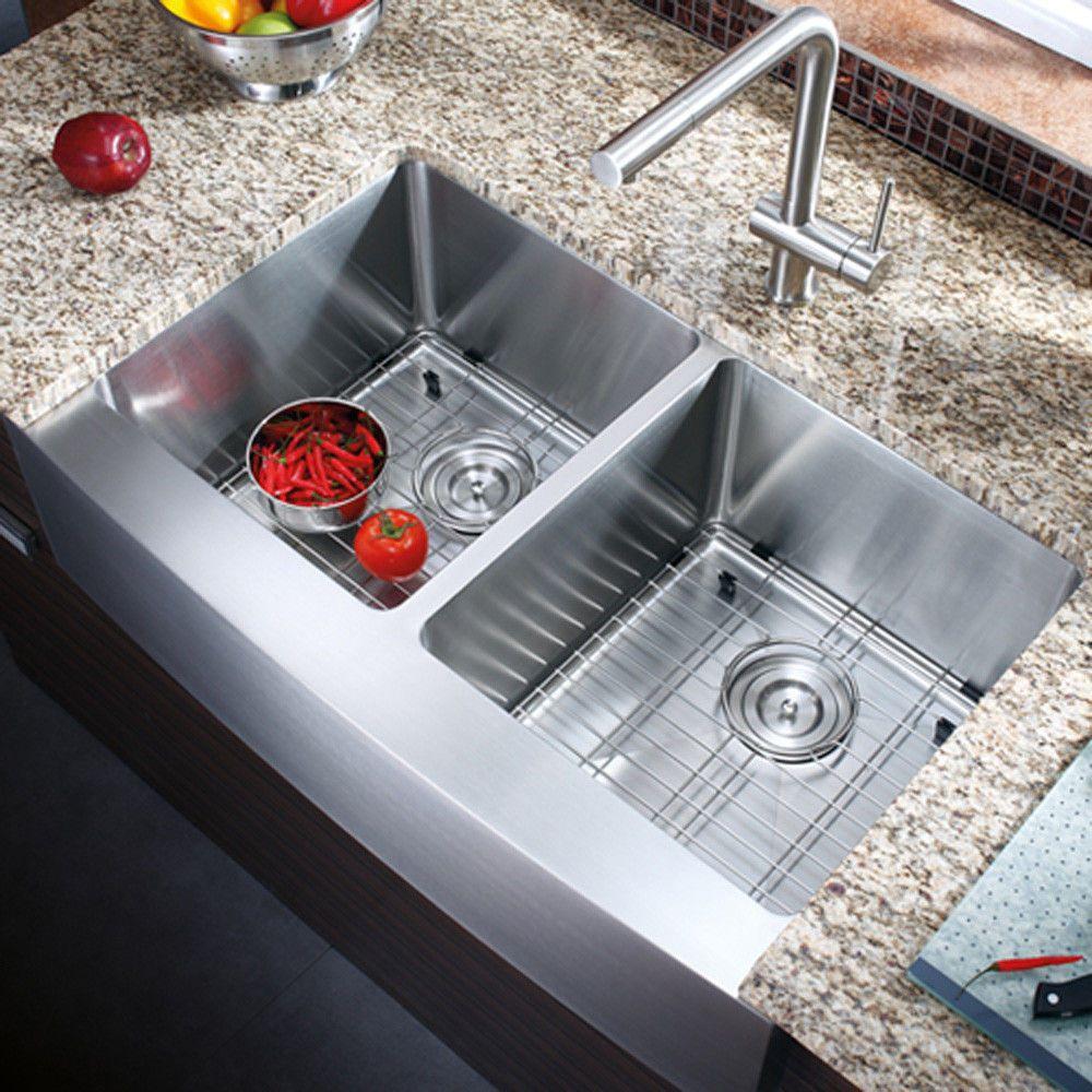 Az202 33 Stainless Steel Double Bowl Farmhouse Apron Kitchen