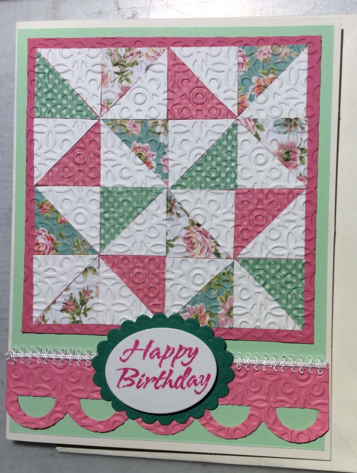 quilted birthday card  Happy birthday, Quilts, Birthday cards