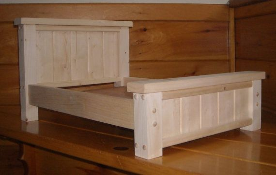 Handmade Rustic Style Doll Bed For 18 Inch Doll By Admwoodcrafts