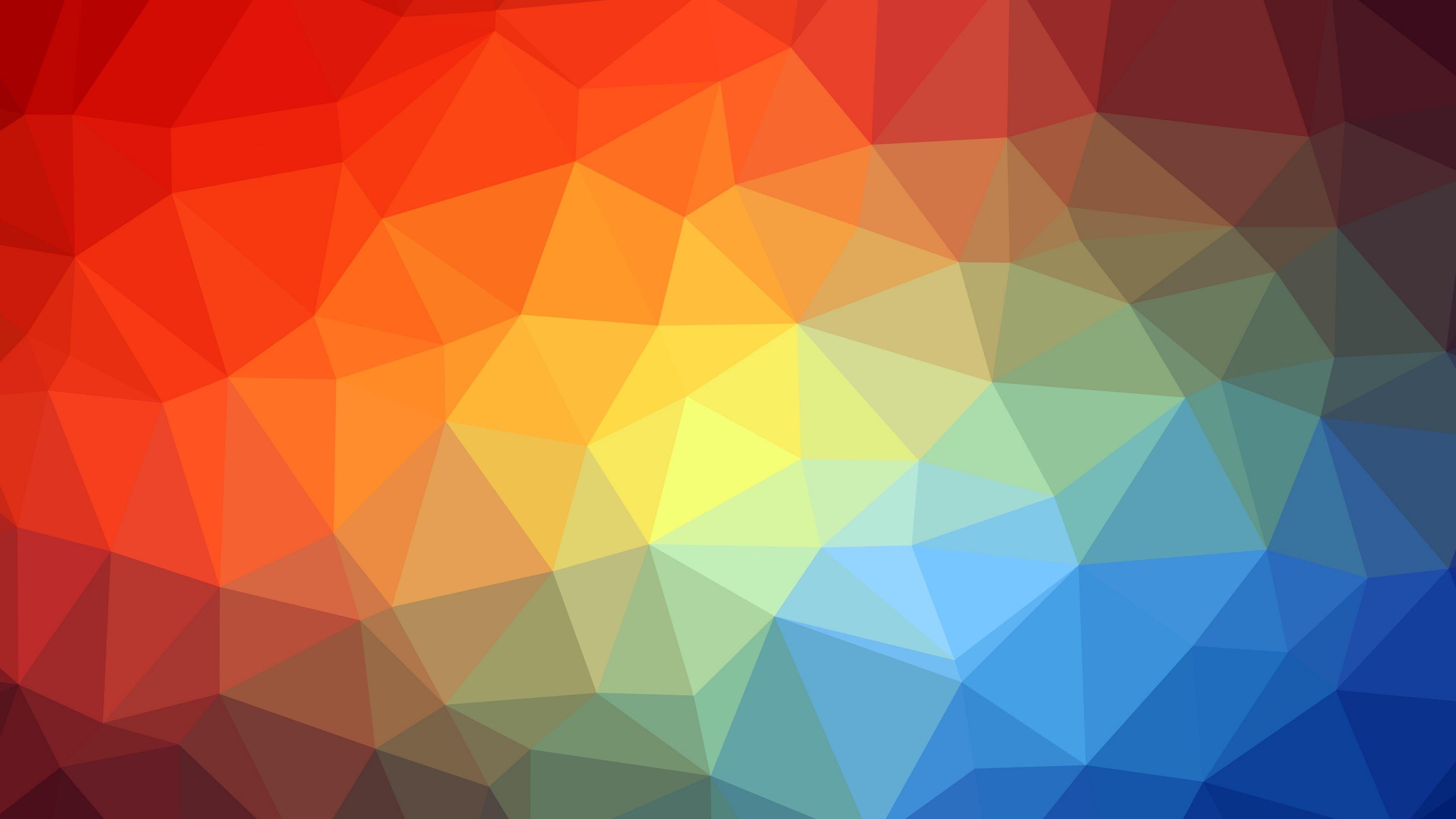 Polygon Geometric Multicolor Colorful 3d Pattern Triangle Graphics 4k Wallpaper Hdwallpaper Desktop In 2021 Abstract Geometric Wallpaper 4k Geometric Geometric desktop wallpaper 4k