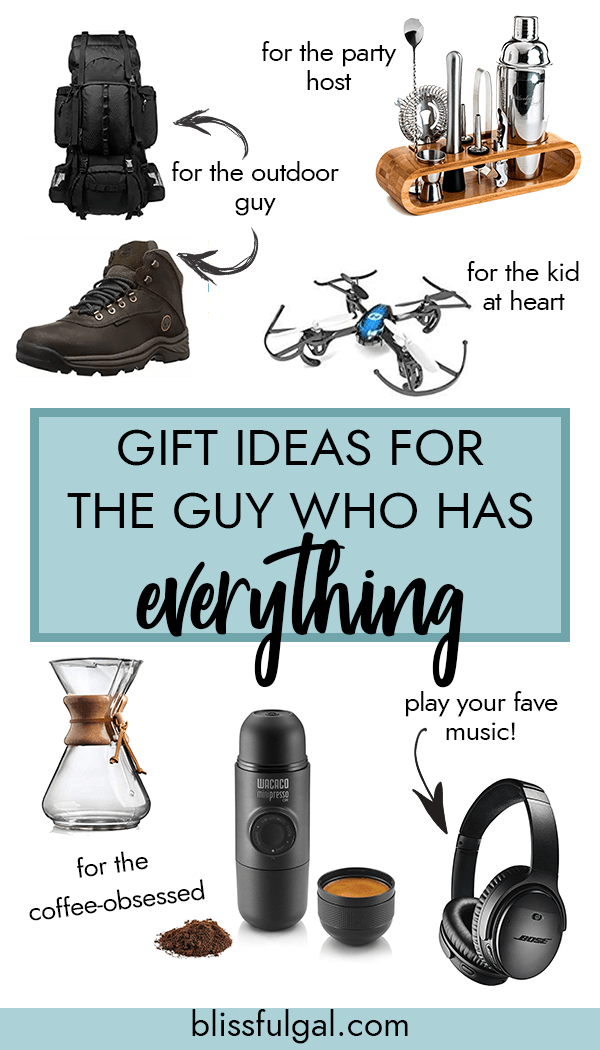 Gift Ideas for The Guy Who Has Everything Christmas gift