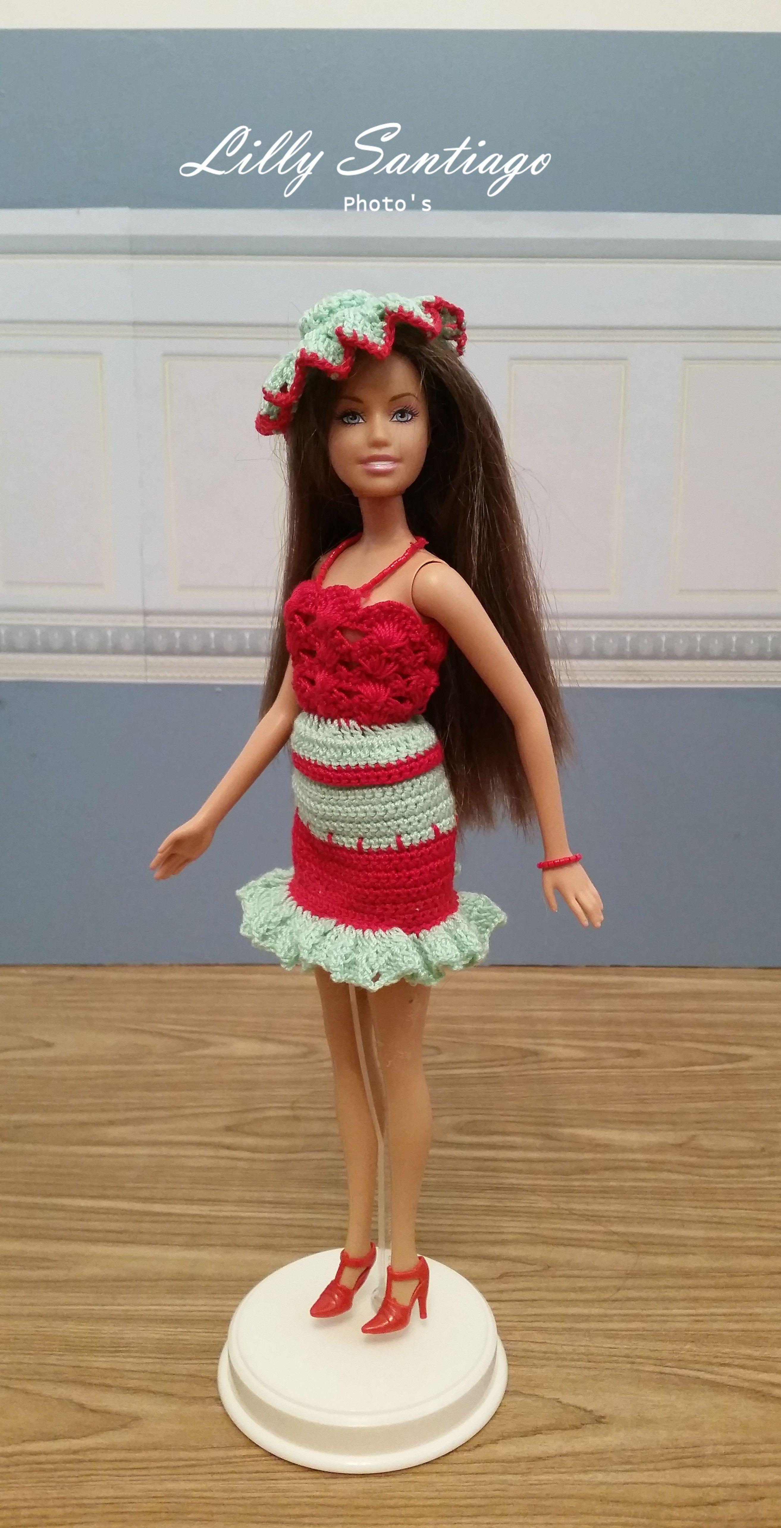Crochet dress by Lilly Santiago   Barbie short flare   Pinterest ...
