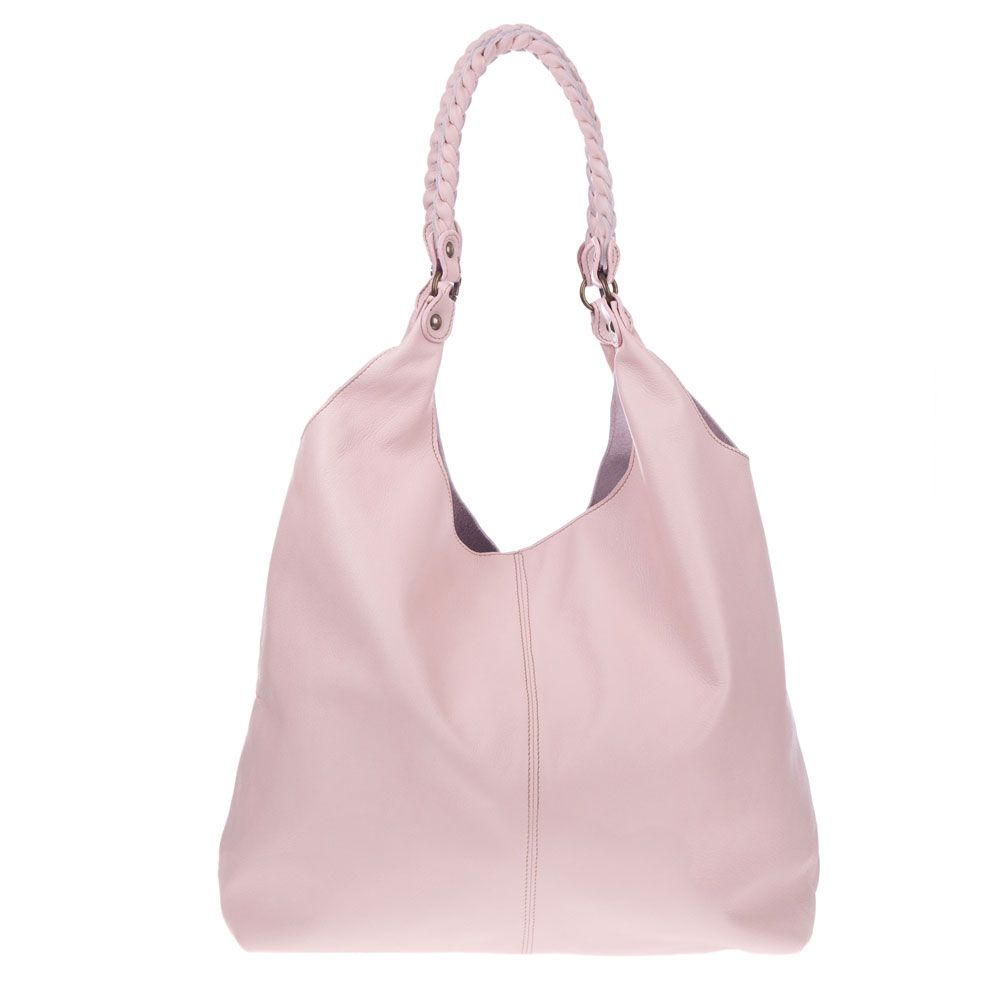 MARCO MASI Italian Made Pink Leather Oversized Designer Hobo Bag ...