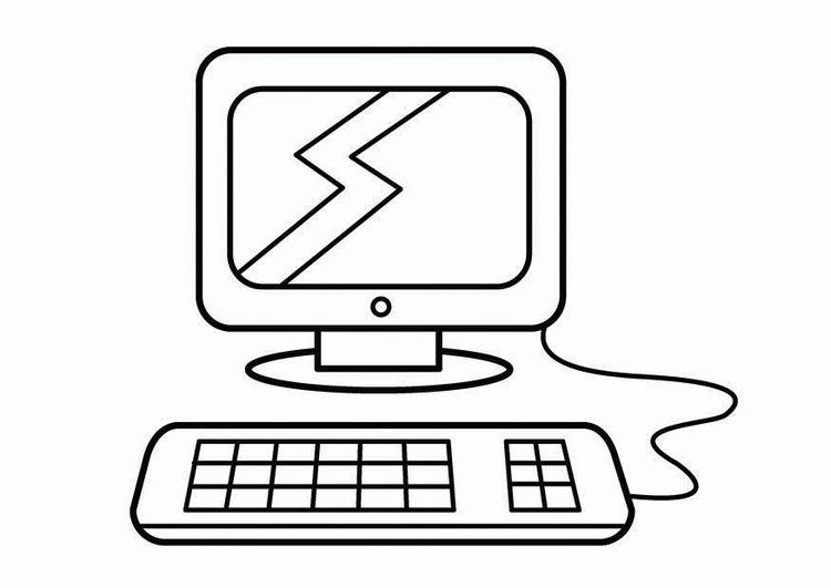 Dibujo Para Colorear Esquina Del Ordenador Esquina De Investigacion Img 26747 Dibujos Para Colorear Computadora Para Colorear Juegos Para Colorear
