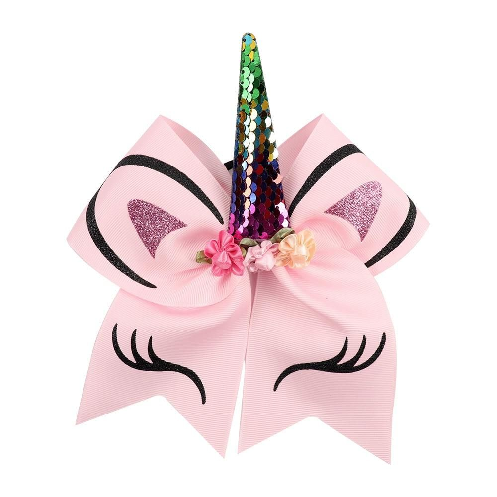 UK Large Size Smile Kids Rose Unicorn Bow Hair Clip Children/'s Hair Accessories