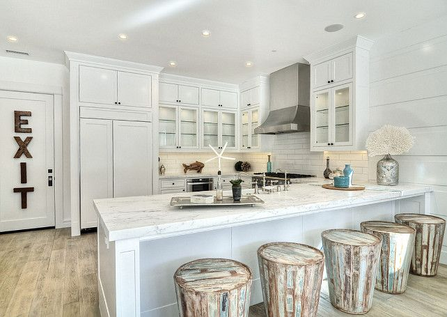 Kitchen Kitchen With Reclaimed Wood Stools White Kitchen With