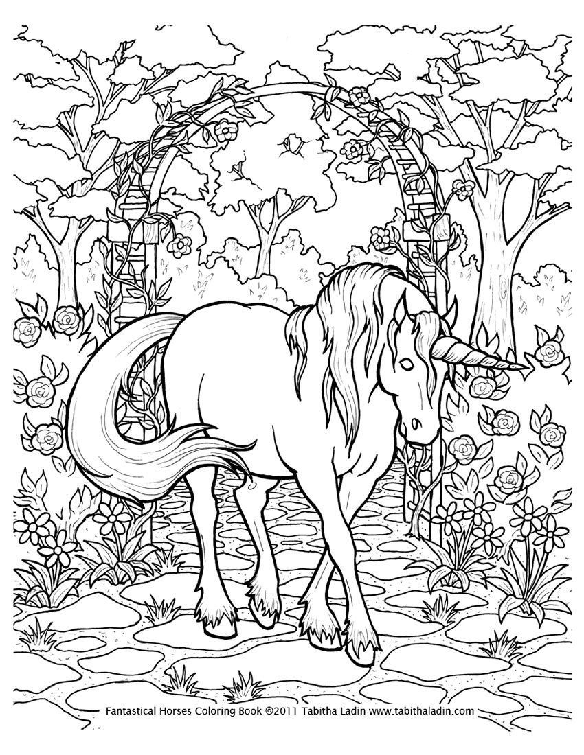 Unicorn Coloring Page by TabLynn | Stencils, Color Pages etc ...
