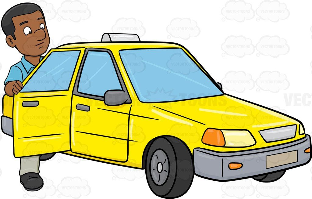 15+ Taxi Black And White Clipart