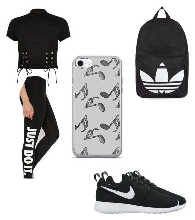 """""""Untitled #95"""" by desireelovesfashion on Polyvore featuring NIKE, River Island, Topshop and Music Notes"""