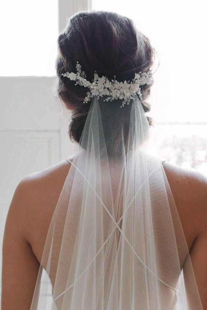 ▷ 1001 + Ideen für faszinierende Brautfrisuren mit Schleier #weddinghaircombs