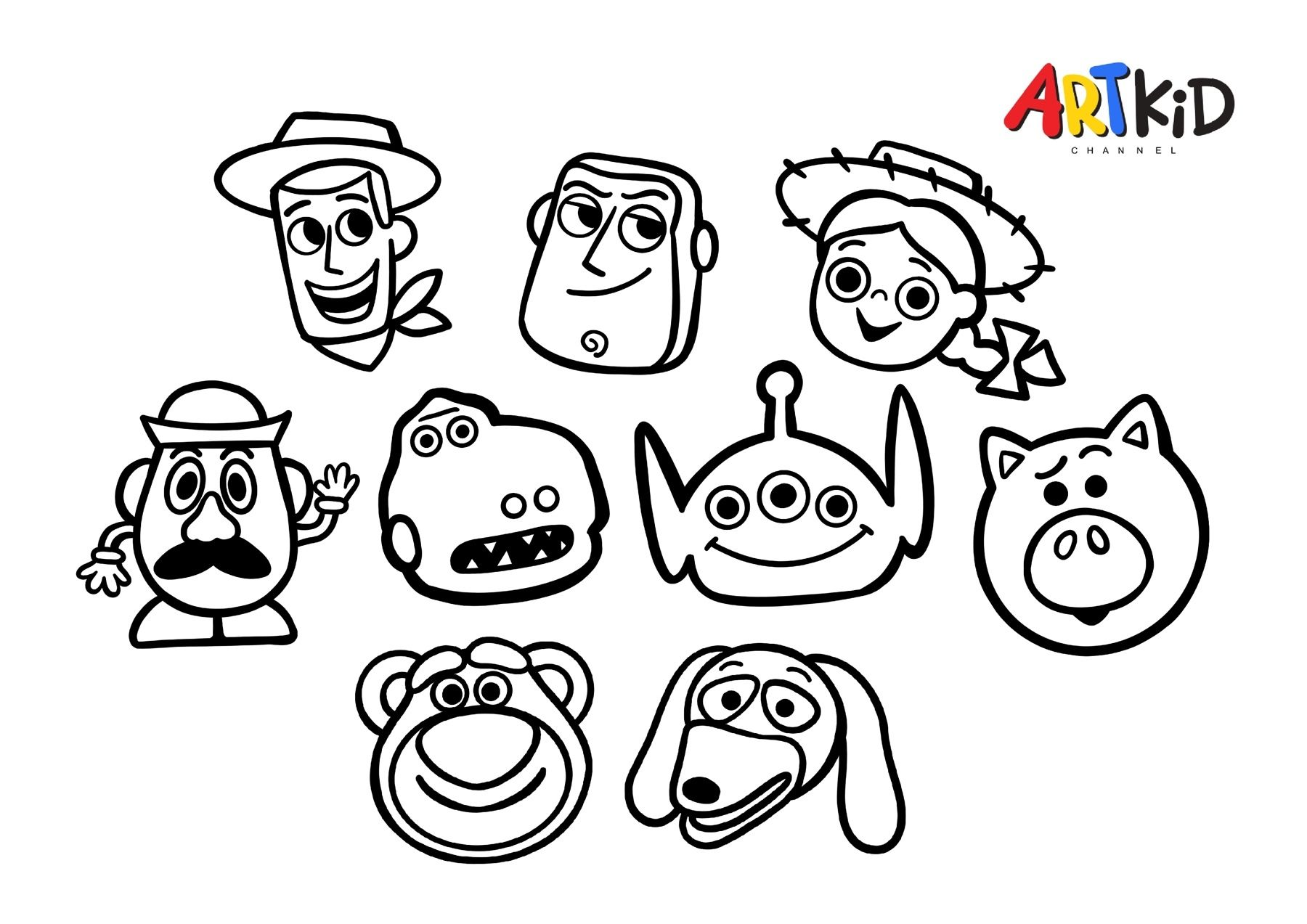 Woody And Friends Toy Story Drawing Free Printable Coloring Pages Oil Pastel Drawings Free Printable Coloring Pages Coloring Pages