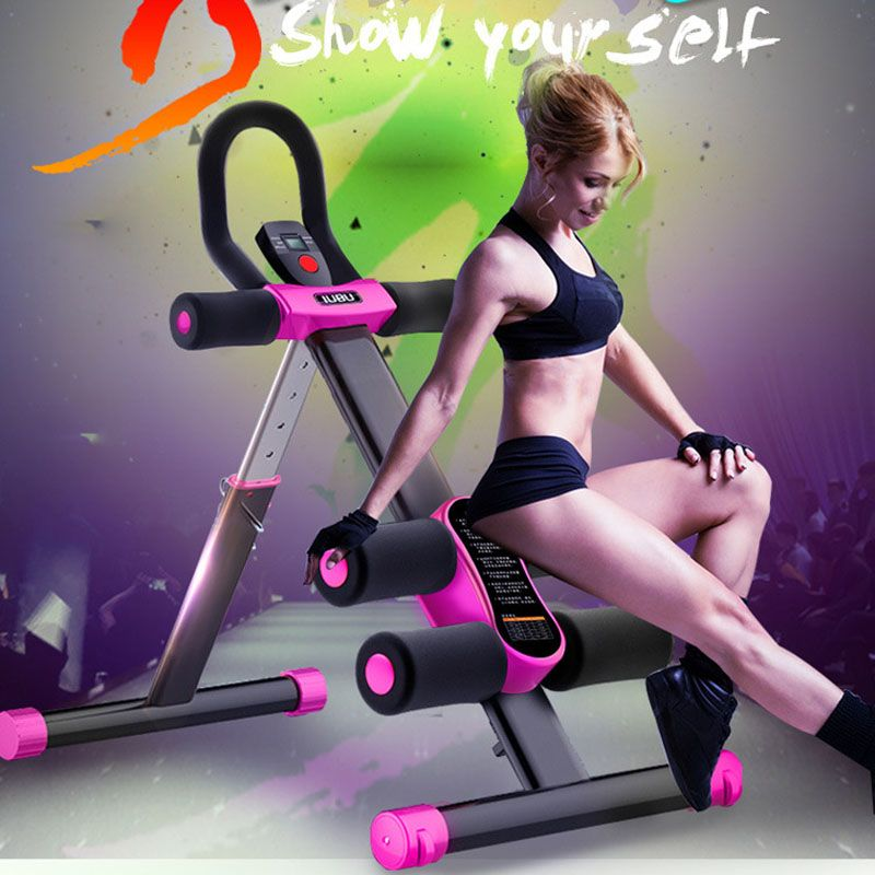 Fitness Equipment Ab Rocket Sit Up Benches For Home Abdominal Waist Trainer Bench Women Sports Machine No Equipment Workout Fitness Body Home Sport