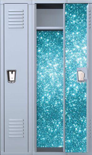 Vinyl Locker Wallpaper 4 Pre Cut Full Length Panels With Strong Magnetic Hold Sapphire Fairy Dust