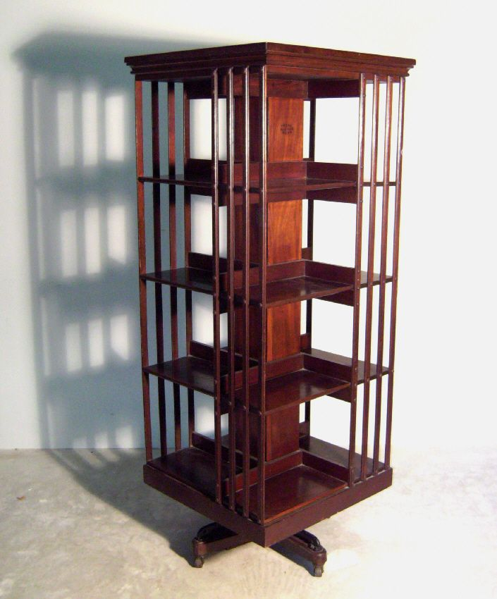 A Square rotating bookcase, without plans, but I like the bars, gives it - A Square Rotating Bookcase, Without Plans, But I Like The Bars