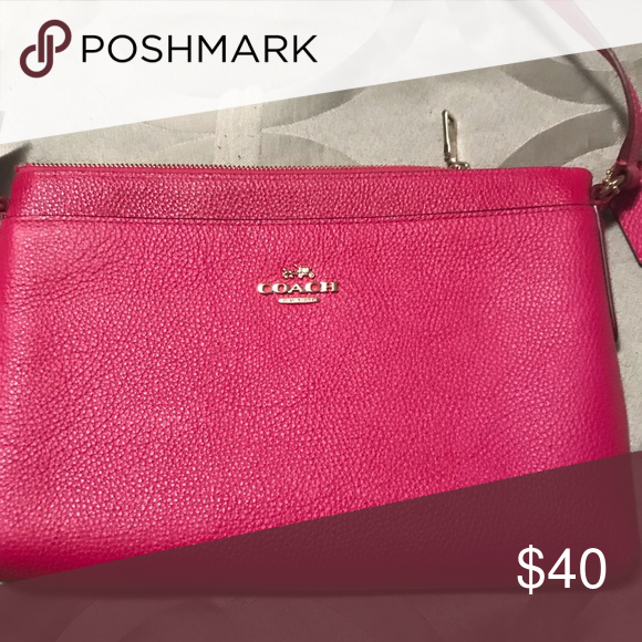 18f79db5f72 Spotted while shopping on Poshmark: Hot pink Coach purse! #poshmark  #fashion #shopping #style #Coach #Handbags