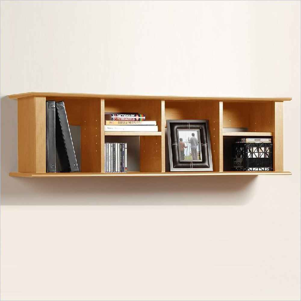 organized wall mount bookshelf for more room space available
