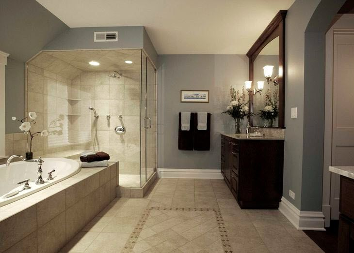 captivating what color paint grey tiles bathroom | 40 beige bathroom tiles ideas and pictures | Bathroom ...