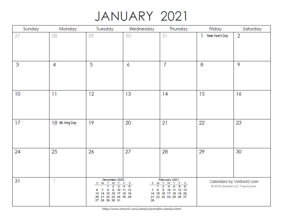 Vertex Calendar 2022.Download A Free Printable Ink Saver 2021 Calendar From Vertex42 Com Free Printable Calendar Monthly Calendar Printables Monthly Calendar Printable