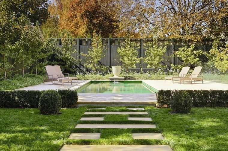 diseño de jardines modernos piscina tumbonas House Pinterest House - jardines modernos