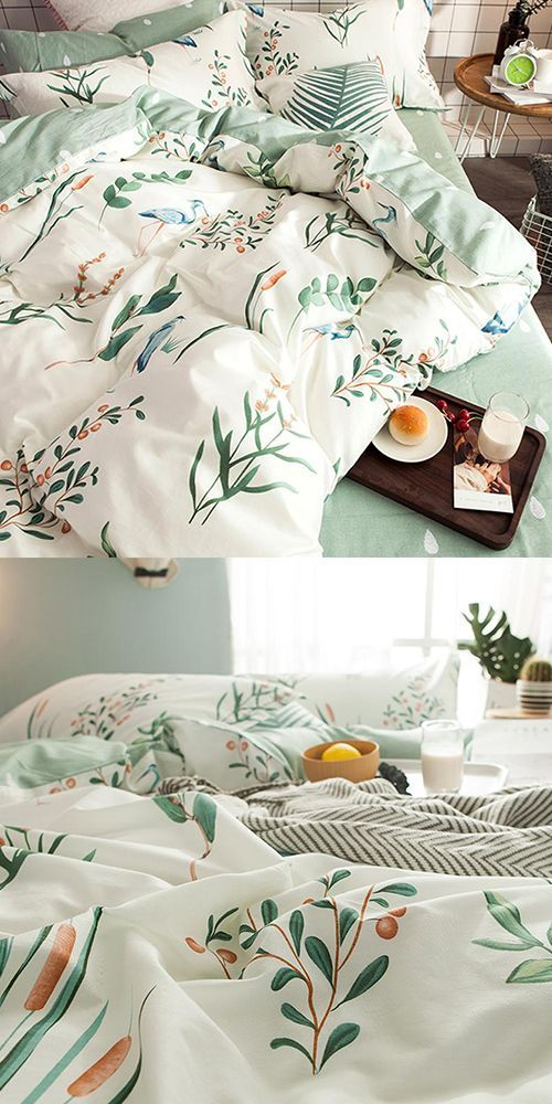 Photo of Fun flamingo and plant print bedding, to brighten up any bedroom! includes a cute and chic raindrop,