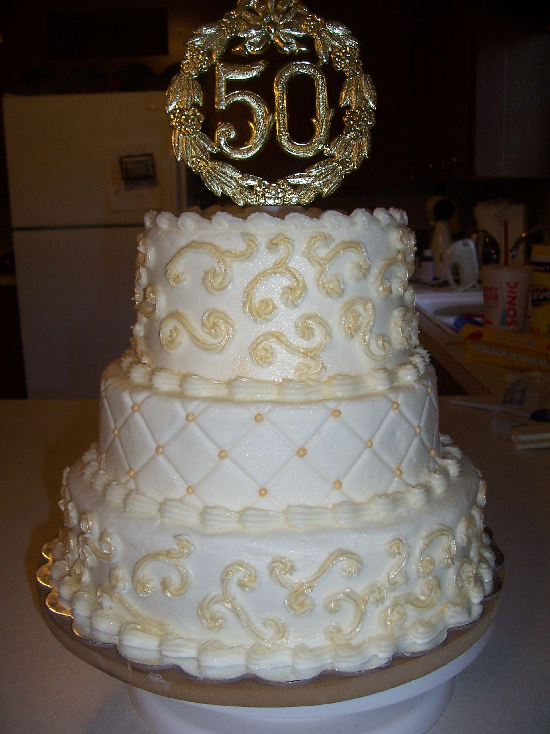 50th Wedding Anniversary Cake   50th anniversary cakes ...