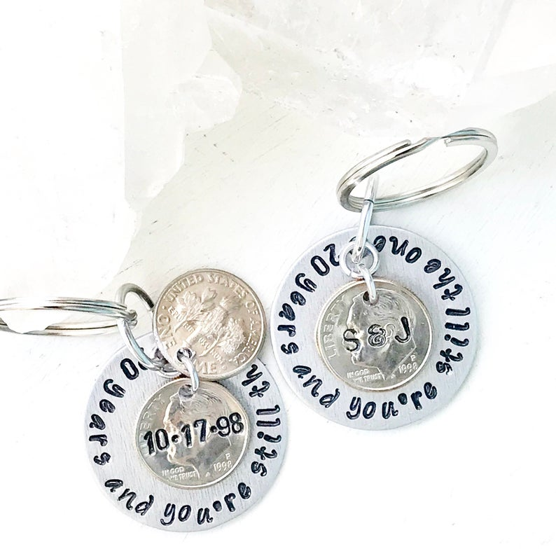 Personalized 20th wedding anniversary gift for men Gift