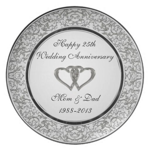 25th Wedding Anniversary Quotes: 25th Wedding Anniversary Plate. Happy 25th Wedding