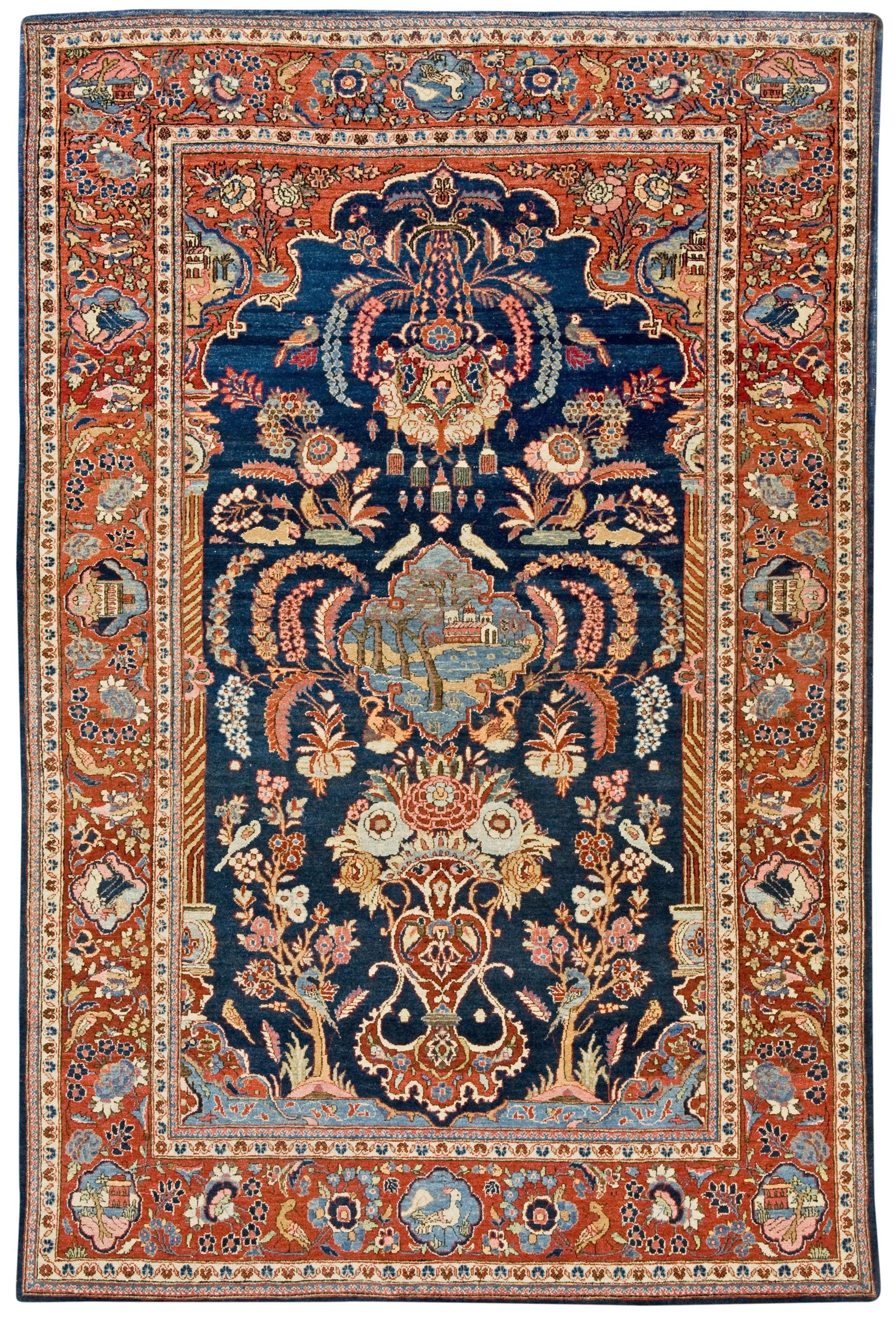 Persian Keshan rug Tappeti persiani, Tappeti