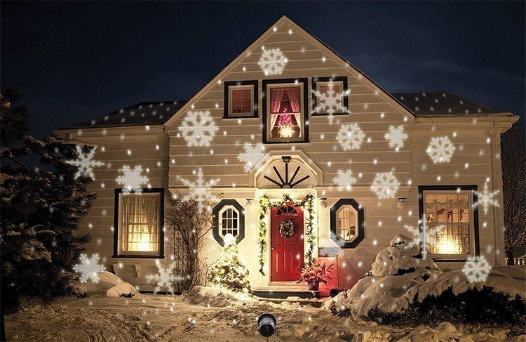 1f615623542 Beautiful Outdoor or Indoor moving Snowflake Light proyector for Christmas.  Project it against your home for an amazing Christmas feel.