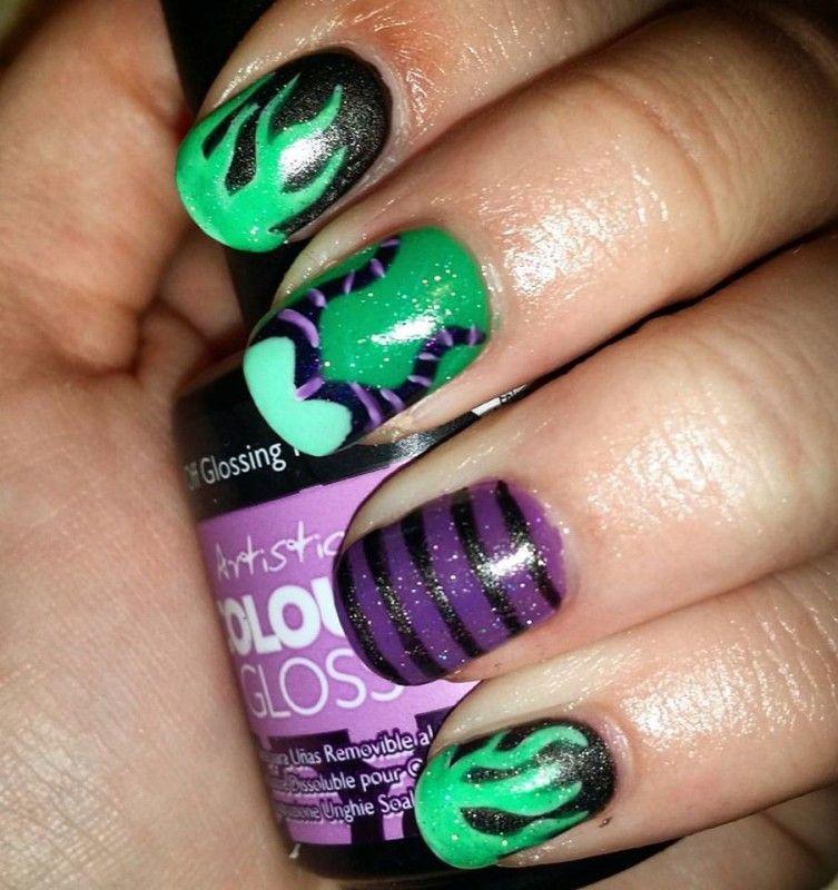 Maleficent Nail Art by TLC Nails | uñas | Pinterest | Maleficent ...